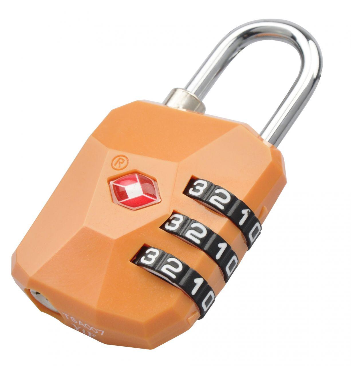 Munkees Munkees zámek na číselný kód TSA orange