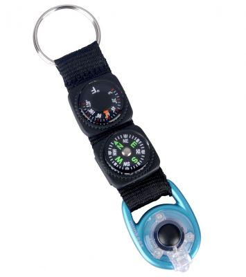 Multifunkčná kľúčenka s teplomerom, kompasom a LED