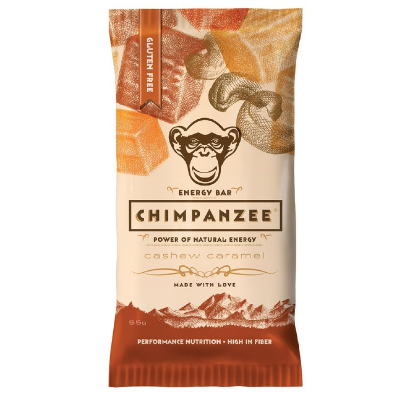 Chimpanzee CHIMPANZEE ENERGY BAR Cashew Caramel 55g