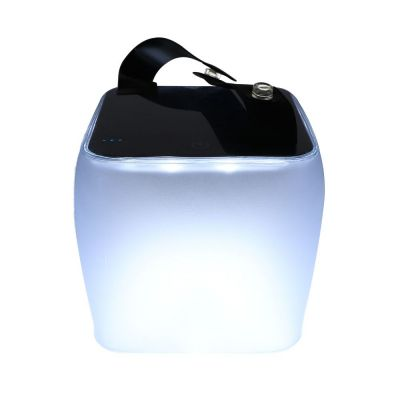 Nafukovacia solárna LED lampa s kontrolkou nabitia, 90 lumenov Luna Cube LC1-L