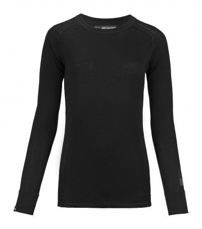 Ortovox Merino 185 Pure Long Sleeve Women black raven L