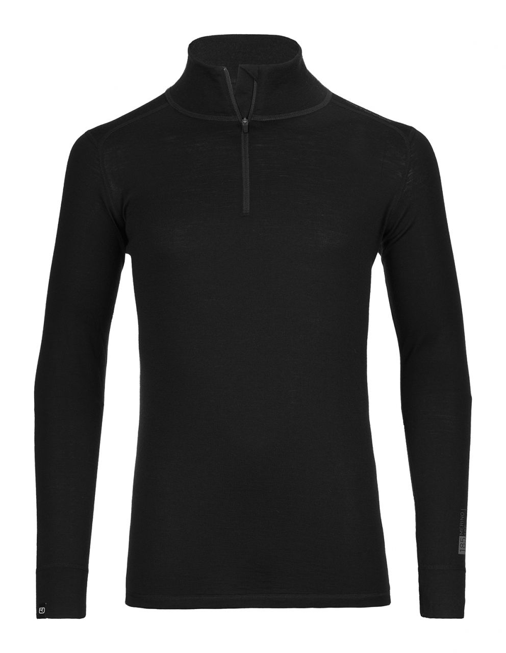 Ortovox Merino 185 Pure Long Sleeve Zipper black raven M