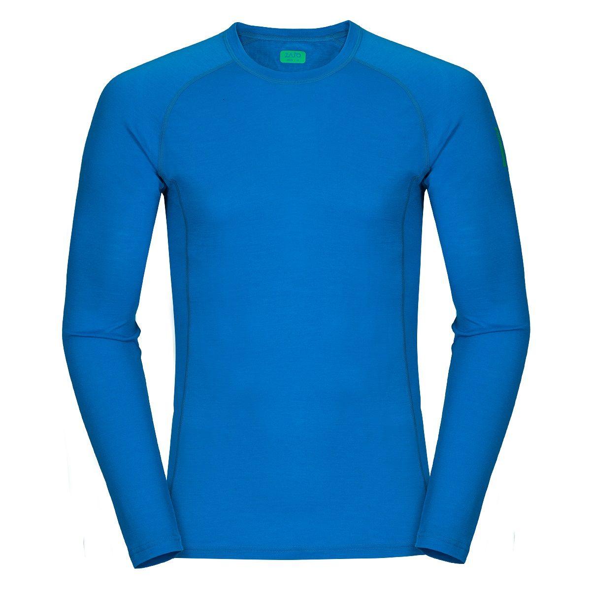 Zajo Bjorn Merino T-Shirt LS blue jewel XL