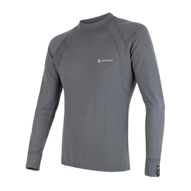 Sensor Double Face pánské triko dlouhý rukáv šedá XL
