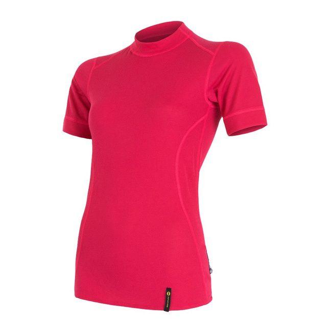 Sensor Double Face dámské triko krátký rukáv magenta L