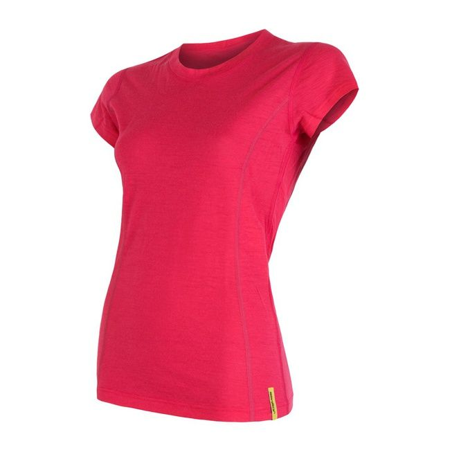 Sensor Merino Wool Active dámské triko krátký rukáv černá L