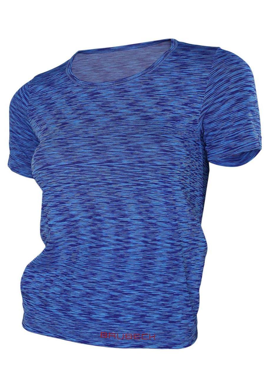 Brubeck Fusion dámské tričko krátký rukáv medley blue M