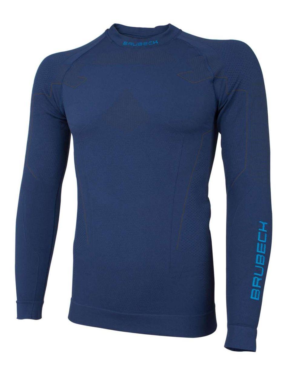 Brubeck Thermo Pánské tričko s dlouhým rukávem navy blue S