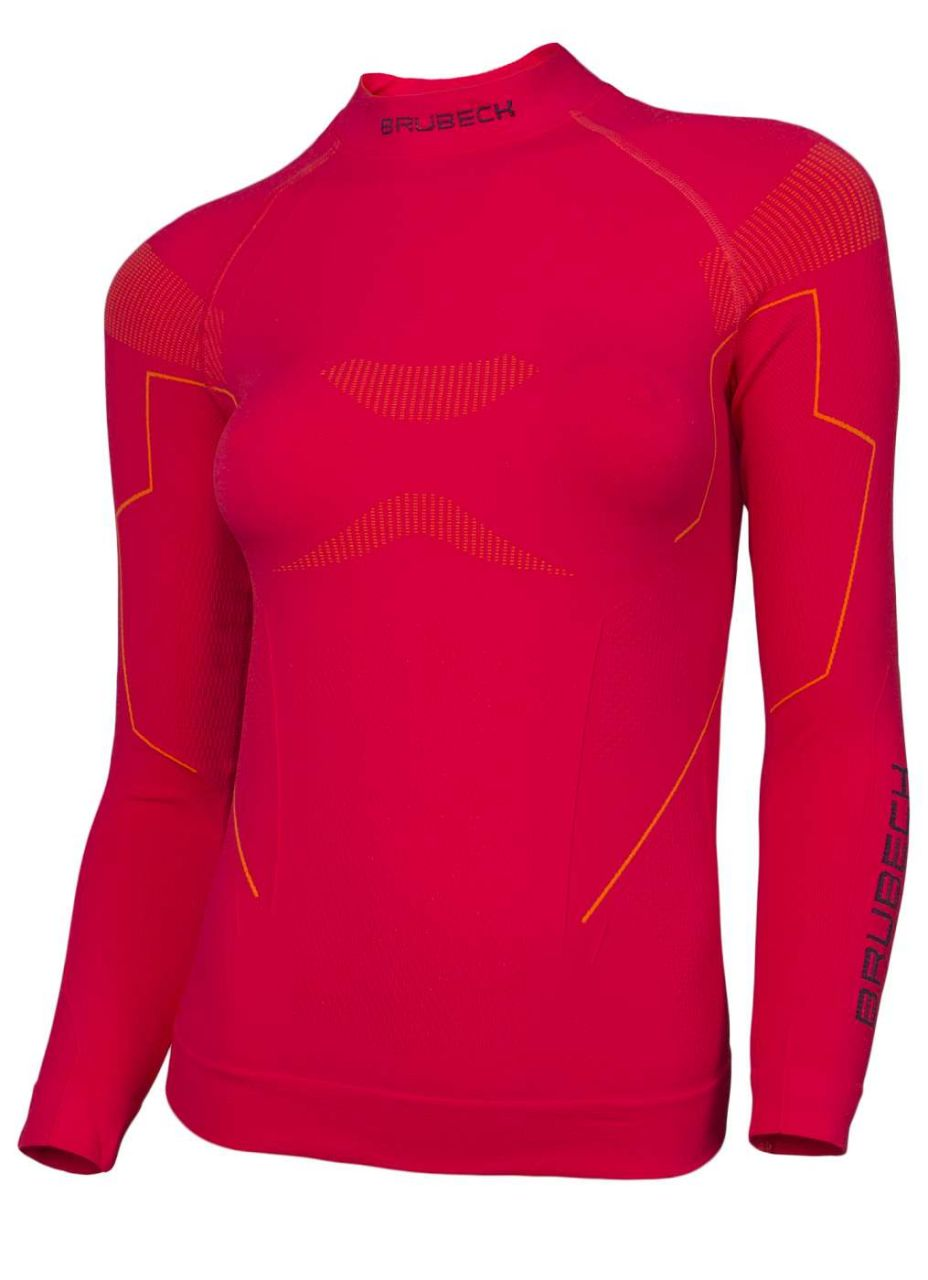 Brubeck Thermo Dámske tričko s dlouhým rukávem raspberry S