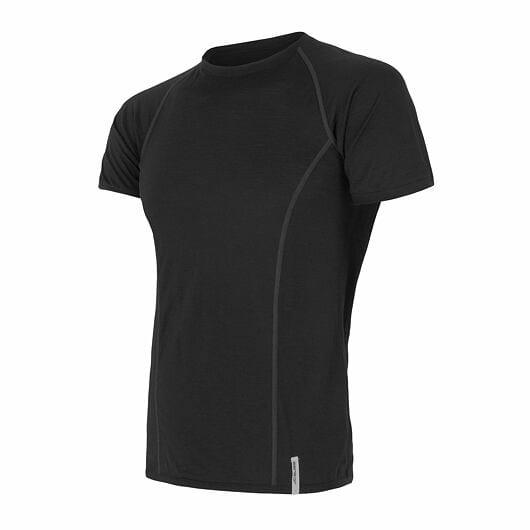 Sensor Merino Active pánské triko krátký rukáv black S