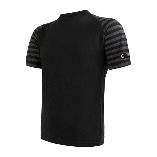 Sensor Merino Active pánské triko krátký rukáv blue M