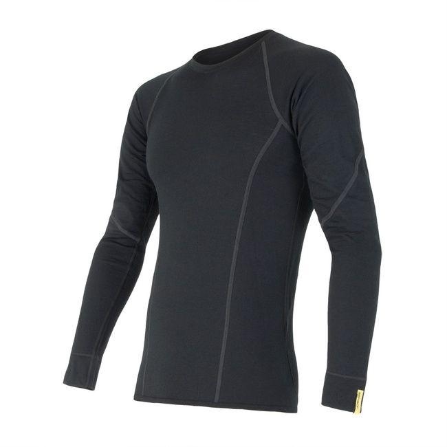 Sensor Merino Active pánské triko dlouhý rukáv black S