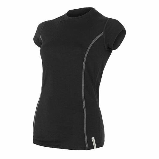 Sensor Merino Active dámské triko krátký rukáv lila XL