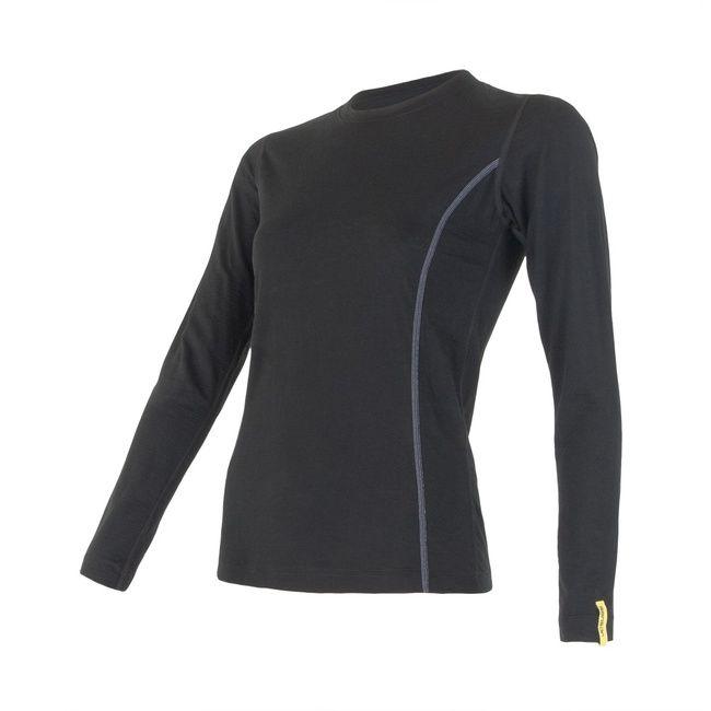 Sensor Merino Active dámské triko dlouhý rukáv black L