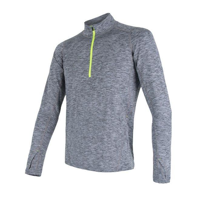 Sensor Motion Pánské triko dlouhý rukáv se zipem grey L