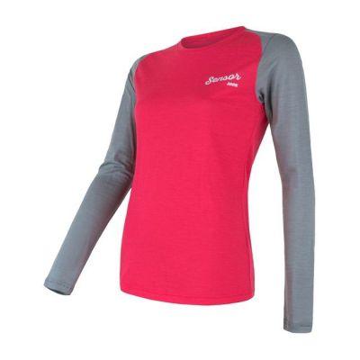 Dámske tričko Merino Active PT Logo dámske dľhý rukáv