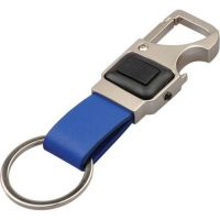 Kľúčenka s 3 funkciami - karabínka, otvárač fliaš, LED svietidlo
