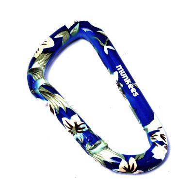 Karabína kvety - modrá veľká