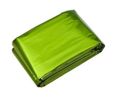 Núdzová deka - zelená / strieborná