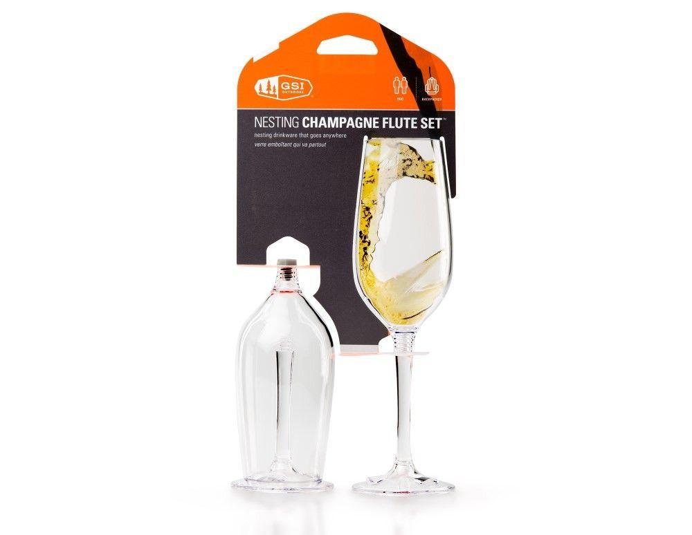 GSI Nesting Champagne Flute Set