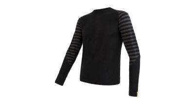 Merino Active Pánske tričko dlhý rukáv - Pruhy
