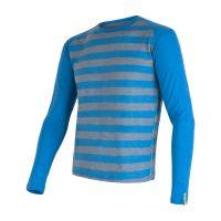 Merino Active Pánské triko dlouhý rukáv - Pruhy