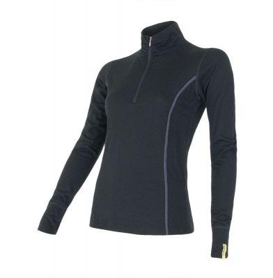 Merino Active Dámske tričko dlhý rukáv - Stoják so zipsom