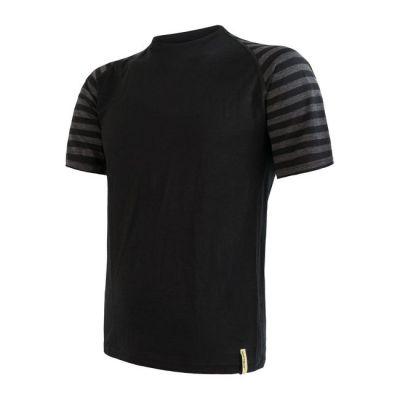 Merino Active Pánske triko krátký rukáv - Pruhy