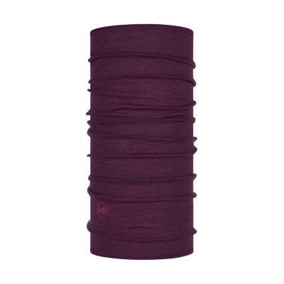 Merino wool Buff Lightweight- Purplish multi stripes