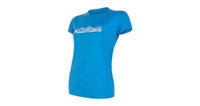 Merino Active PT Mountains Dámske tričko krátký rukáv - modrá