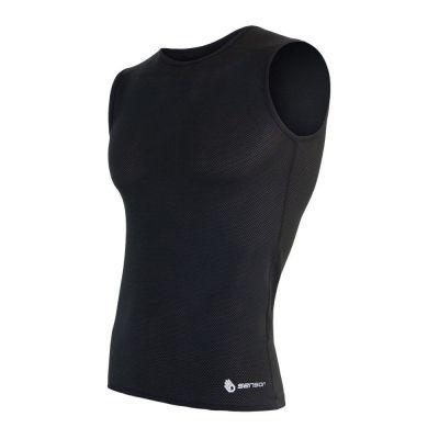 Coolmax Air pánske tričko bez rukávov - čierna