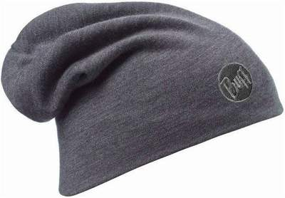 Merino wool Buff hat Heavyweight losse- Solid grey