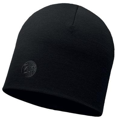 Merino wool Buff hat Heavyweight regular - Solid black