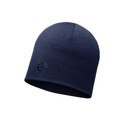 Merino wool Buff hat Heavyweight regular - Solid denim