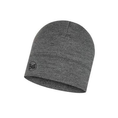 Merino wool Buff hat Midweight - Light grey melange