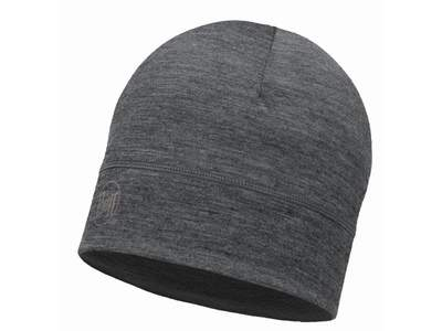 Merino wool Buff hat Lightweight- Solid grey
