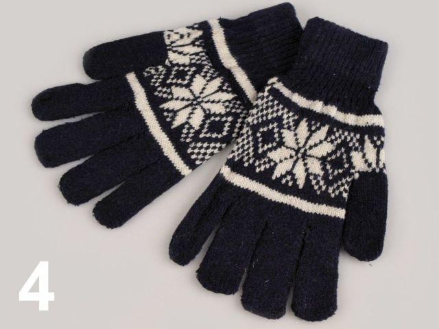 8f2afbf9ec7 Rukavice pletené norský vzor